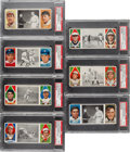Baseball Cards:Lots, 1912 T202 Hassan Triple Folders PSA EX 5 Collection (7). ...