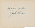 Autographs:Others, 1950's Jackie Robinson Signed Cut....