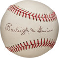Baseball Collectibles:Balls, 1960's Burleigh Grimes Single Signed Baseball. ...