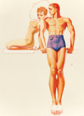 """Paintings, GEORGE PETTY (American, 1894-1975). """"You Have a Good Line Darling, but your Jantzen Lines are Better,"""" Jantzen swimsuit ad..."""