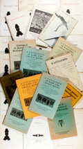 [Bookseller Catalogs] Group Lot of Bookseller Catalogs from The Arthur H. Clark Company and Serendipity Books. Very g