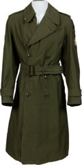 Music Memorabilia:Costumes, Elvis Presley Owned/Worn ARMY Dress Trench Coat (1958-60)....