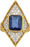 Estate Jewelry:Rings, Sapphire, Diamond, Gold Ring, Buccellati. ...