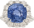 Estate Jewelry:Rings, Sapphire, Diamond, White Gold Ring. ...