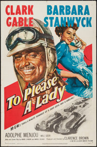 """To Please a Lady (MGM, 1950). One Sheet (27"""" X 41""""). Adventure"""