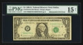 Error Notes:Mismatched Serial Numbers, Fr. 1912-F $1 1981A Federal Reserve Note. PMG Choice Fine 15 Net.. ...