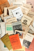 Books:Books about Books, [Bookseller Catalogs]. Group Lot of Catalogs of Americana-Related Books. Very good. ...
