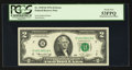 Error Notes:Mismatched Prefix Letters, Fr. 1935-B $2 1976 Federal Reserve Note. PCGS About New 53PPQ.. ...