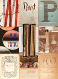 Books:Periodicals, Group of Fourteen Issues of Print: A Quarterly Journal of theGraphic Arts. Ca. 1950s. Very good. . ...