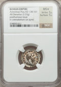 Ancients:Roman Imperial, Ancients: Divus Antoninus Pius (died AD 161). AR denarius (19mm,3.33 gm, 6h). ...