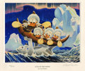 "Original Comic Art:Miscellaneous, ""Luck of the North"" by Carl Barks Miniature Lithograph Print#586/595 (Another Rainbow, 2000)...."