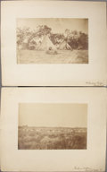 "Photography:Cabinet Photos, CAMP SUPPLY I.T (INDIAN TERRITORY) LOT OF TWO IMPERIAL SIZE CARDSca. 1870sFort Supply was originally established as ""Camp o...(Total: 1 Item)"