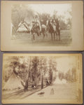 Photography:Cabinet Photos, LOT OF TWO UMATILLA INDIANS OREGON/WASHINGTON 1890'S. Lot of (2)Imperial-size cabinet cards. 1st Image, (2) chiefs Pio -P...(Total: 1 Item)