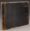 Photography:Cabinet Photos, COLORADO NATIVE AMERICAN INDIAN VIEW AND RANCH ALBUM - ca. 1880-90.This black leather album contains scenes of Native Ameri... (Total:1 Item)