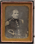Photography:Daguerreotypes, Ultra Rare Quarter Plate Daguerreotype of Brevet Major General Richard Delafield, Being the Earliest Known Photograph of Him....