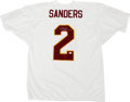 """Football Collectibles:Others, Deion Sanders Signed Jersey. The man known simply as """"Prime Time"""" has provided a pristine silver sharpie signature to the w..."""