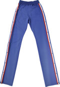 Basketball Collectibles:Uniforms, 1990-91 Manute Bol Game-Worn Warm-Up Pants. From the time that hecame to the NBA from his native Sudan, Manute Bol was a p...