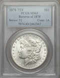 Morgan Dollars: , 1878 7TF $1 Reverse of 1878 MS63 PCGS. PCGS Population (4242/3113). NGC Census: (4755/4018). Mintage: 4,900,000. Numismedia...