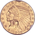 Indian Half Eagles, 1908 $5 MS64 NGC....