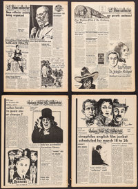 "Classic Film Collector (Samuel K. Rubin, June 1962- April 1974). Magazines (84) (Multiple Pages, 8.5"" X 12.25""..."