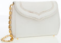 Luxury Accessories:Bags, Lana Marks White Lizard Clutch Bag with Gold Hardware . ...