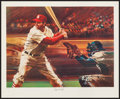 Baseball Collectibles:Others, Stan Musial Signed Lithograph. ...