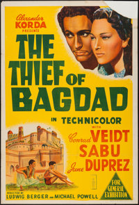 "The Thief of Bagdad (London Films, 1940). Australian One Sheet (27"" X 40""). Fantasy"