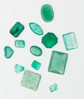 Estate Jewelry:Unmounted Gemstones, Unmounted Emerald Lot. ... (Total: 13 Items)