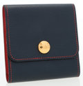 Luxury Accessories:Accessories, Hermes Blue France & Rouge Vif Courchevel Leather Post-itHolder. ...