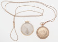 Timepieces:Pocket (post 1900), New Columbus & Hamilton Pocket Watches. ... (Total: 2 Items)