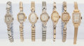 Timepieces:Wristwatch, A Lot Of Seven 14k Gold Lady's Wristwatches. ... (Total: 7 Items)