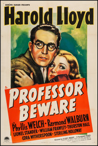 "Professor Beware (Paramount, 1938). One Sheet (27"" X 41""). Comedy"