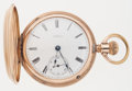 Timepieces:Pocket (post 1900), Waltham Hunter's Case 18 Size Pocket Watch. ...
