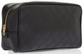 Luxury Accessories:Accessories, Chanel Black Leather Cosmetic Pouch Bag . ...
