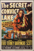 "Movie Posters:Western, The Secret of Convict Lake (20th Century Fox, 1951). One Sheet (27""X 41""). Western.. ..."