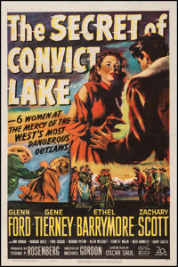 "The Secret of Convict Lake (20th Century Fox, 1951). One Sheet (27"" X 41""). Western"