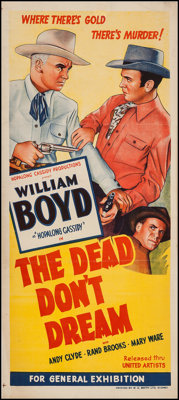 "The Dead Don't Dream (United Artists, 1948). Australian Daybill (13"" X 30""). Western"