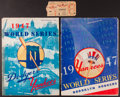 Baseball Collectibles:Tickets, 1947 World Series Programs (2) and Game 1 Ticket Stub....