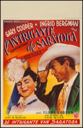 """Movie Posters:Drama, Saratoga Trunk (Warner Brothers, 1940s). First Release Belgian (14""""X 21.5""""). Drama.. ..."""