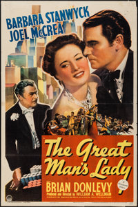 "The Great Man's Lady (Paramount, 1941). One Sheet (27"" X 41""). Romance"