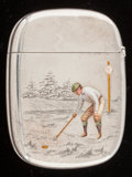 Silver Smalls:Match Safes, A GORHAM SILVER, SILVER GILT AND ENAMEL MATCH SAFE . GorhamManufacturing Co., Providence, Rhode Island, 1898. Marks: (lion-...