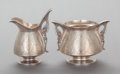 Silver Holloware, American:Creamers and Sugars, A TIFFANY & CO. SILVER CREAMER AND SUGAR. Tiffany & Co.,New York, New York, circa 1870-1875. Marks: TIFFANY & CO.,STERLI... (Total: 2 Items)