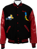 """Movie/TV Memorabilia:Costumes, A Patrick Stewart Letterman's Style Jacket from """"The Simpsons.""""..."""