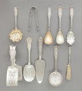 Silver Flatware, American:Tiffany, A GROUP OF TEN TIFFANY & CO. OLYMPIAN PATTERN SILVER ANDSILVER GILT FLATWARE SERVING PIECES . Tiffany & Co., Ne...(Total: 10 Items)