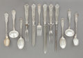 Silver Flatware, American:Tiffany, A GROUP OF TWELVE TIFFANY & CO. OLYMPIAN PATTERN SILVERFLATWARE SERVING PIECES . Tiffany & Co., New York, New ...(Total: 12 Items)