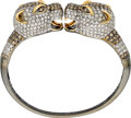 Estate Jewelry:Bracelets, Diamond, Colored Diamond, Gold Bracelet. ...