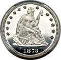 Proof Seated Quarters, 1873 25C No Arrows PR66 Cameo PCGS....