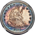 Proof Seated Quarters, 1864 25C PR66 Cameo NGC....