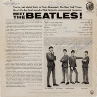Beatles Meet the Beatles! Stereo LP Signed at the Deauville Hotel in Miami, the Day Before T