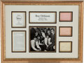 Music Memorabilia:Autographs and Signed Items, The Beatles, Roy Orbison, and Gerry & the Pacemakers Tour Photowith Autographs (1963)....